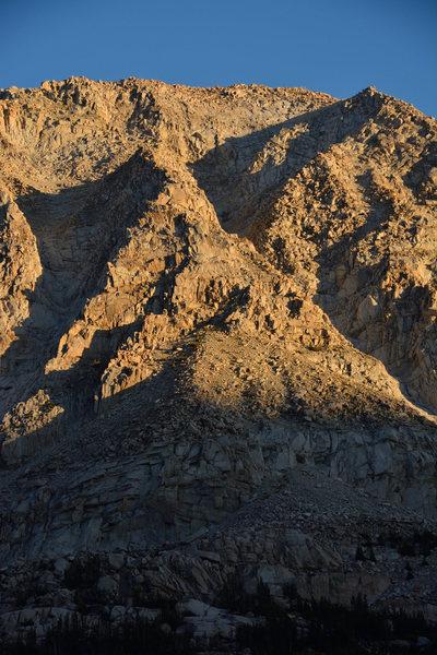 Rock Climbing Photo: Northwest Ridge of Lee Vining Canyon at sunset