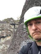 Rock Climbing Photo: When you go off route....and end up at a hanging b...