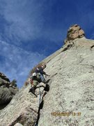 Rock Climbing Photo: getting ready for the crux