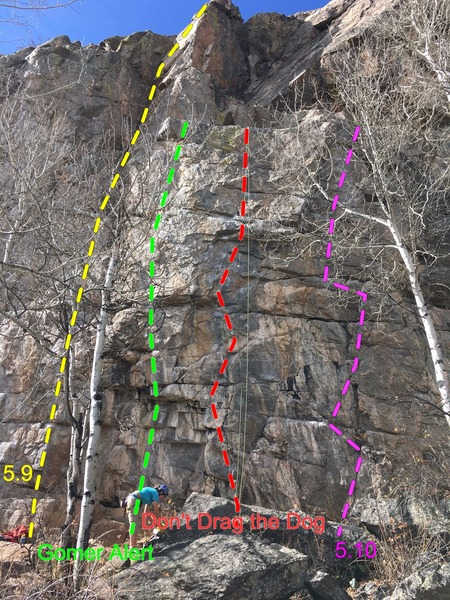 Right side of Homestake Crag