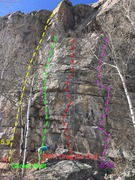 Rock Climbing Photo: Right side of Homestake Crag