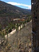 Rock Climbing Photo: Beautiful fall day at Homestake Crag.