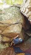Rock Climbing Photo: Steve E starting Covert Op