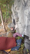Rock Climbing Photo: Jeff B starting Ramped Up