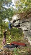 Rock Climbing Photo: Steve E topping out.