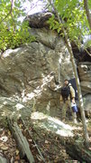 Rock Climbing Photo: Steve E standing next to Blinders
