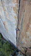 Rock Climbing Photo: Charlie cruises pitch 1