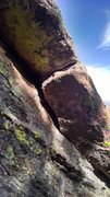 Rock Climbing Photo: This is a closeup of the crack on the south side o...