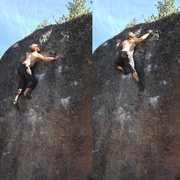 Rock Climbing Photo: Pulling the final moves
