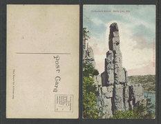 Rock Climbing Photo: 1910 postcard of Cleos needle