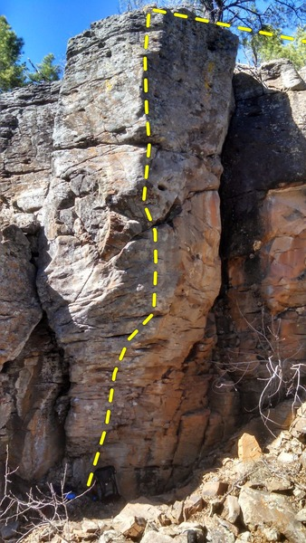 Rock Climbing Photo: The prow.  See haulbag at base for scale