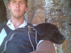 Rock Climbing Photo: Me and Dimitrius Poukachev, the new pup and namesa...