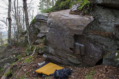 Rock Climbing Photo: Rustic Remnants starts on the two slopers formed b...