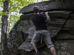 Rock Climbing Photo: Traversing and about to put my feet onto the very ...