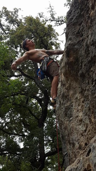 Rock Climbing Photo: Shaking out on one of the awesome rests before get...