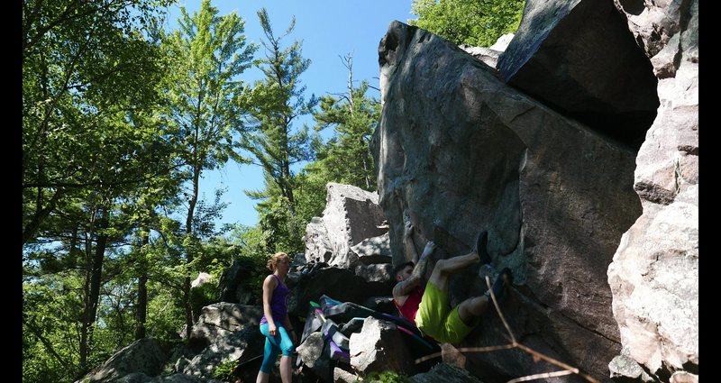 Rock Climbing Photo: Mid way through the climb