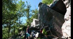 Mid way through the climb