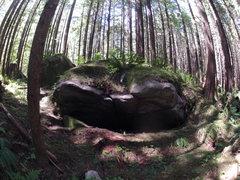 Rock Climbing Photo: Batmobile boulder