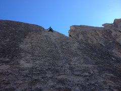 Rock Climbing Photo: Jeff Constine topping out on Velcro.