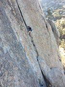 Rock Climbing Photo: Madaline on Slot Machine