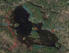 Round Pond boulder locations.