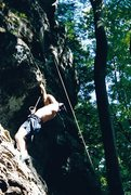 Rock Climbing Photo: Found this photo of me from the early 90's hav...