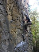 Rock Climbing Photo: Easy climbing down low, send someone with a camera...