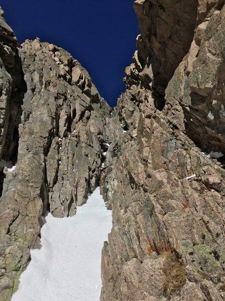 Rock Climbing Photo: The third bottle neck of Martha.