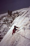 Rock Climbing Photo: Settlemire following on the FA
