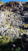 Rock Climbing Photo: Rocker's Revenge topo with P1 belay