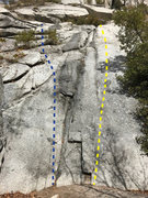 Rock Climbing Photo: Blue line is Connor's Playground.