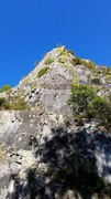 Rock Climbing Photo: Horribly fore-shortened photo of the buttress... T...