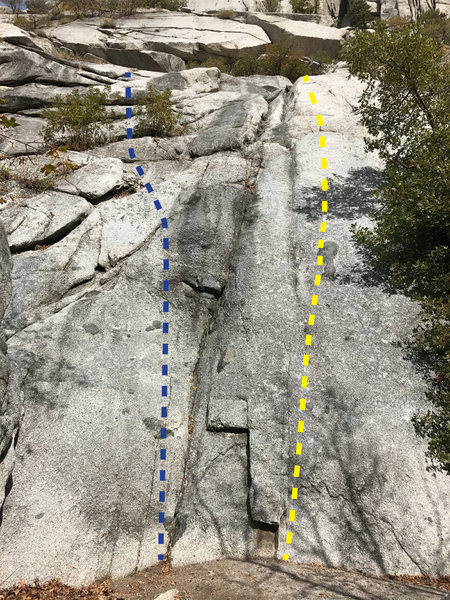 Rock Climbing Photo: Yellow line is Prayukta