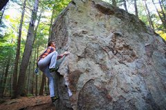 Rock Climbing Photo: High-stepping the crux on aroma therapy