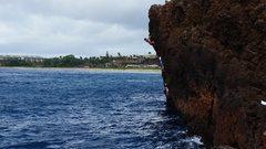 Rock Climbing Photo: Hang'n Loose 10a/b (DWS), The Backside, Maui