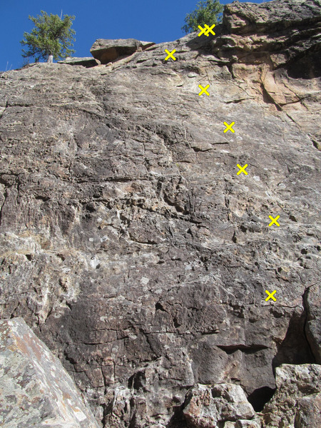 Rock Climbing Photo: French Toast route, identified from the book Weste...