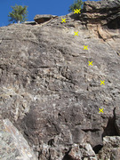 French Toast route, identified from the book Western Sloper and our Oct. 2016 visit.