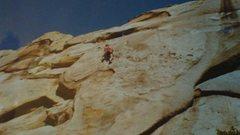 Rock Climbing Photo: John Barritt on Amazon Woman, 1987