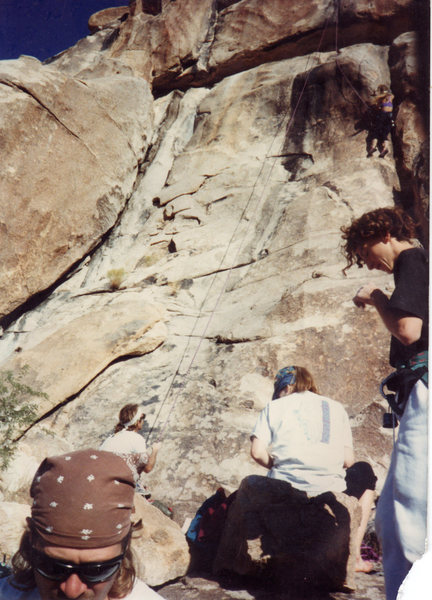 Rock Climbing Photo: Joe's Corner is the big dihedral on the left. ...