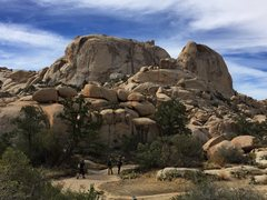 Rock Climbing Photo: Astro Domes from the trail