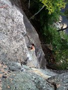 Rock Climbing Photo: Zay on the lower section, gettin' all techy an...