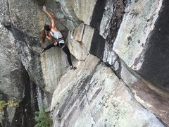 Rock Climbing Photo: Zay forgot to grow 8 inches before trying the crux...