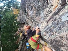 Rock Climbing Photo: Oh, well hey there bud. This is real life FA actio...