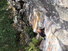 Rock Climbing Photo: Here I am finishing up the lower section, Pele. Ph...