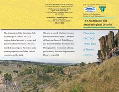 Rock Climbing Photo: BLM Brochure (page 1) for the American Falls Archa...
