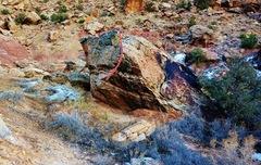 Rock Climbing Photo: Beta for Jingo Unchained.