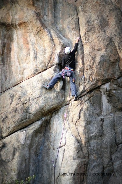 Rock Climbing Photo: Just getting into the crux.