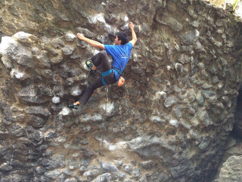 Rock Climbing Photo: Akio Joy cleaning his room