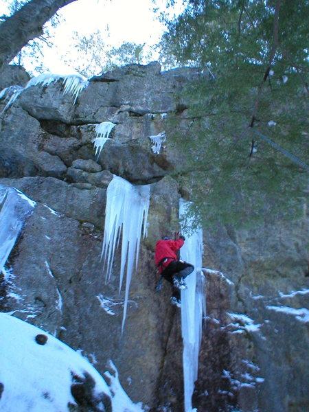 Rock Climbing Photo: Free hanging