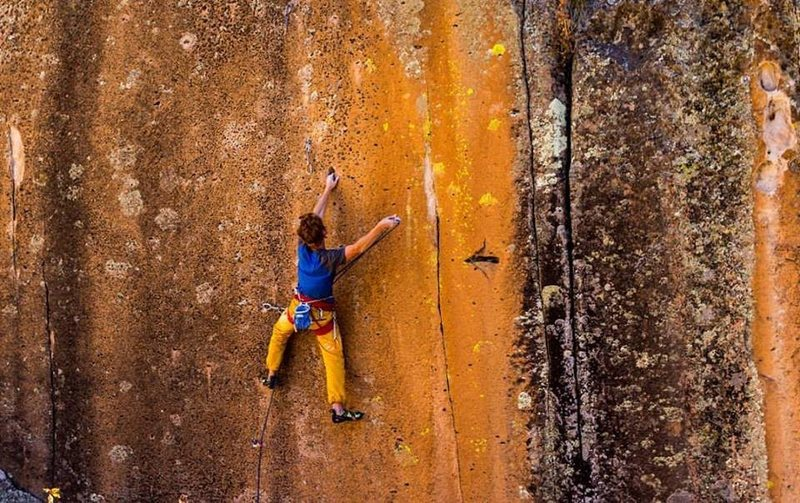 Climber: Ben Crawford.<br> <br> Photo: Will Berger.
